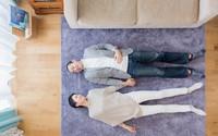 Căn hộ hạnh phúc của cặp vợ chồng trẻ được sắp xếp ấn tượng nhờ trần cao 3,7m