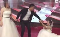 Cô dâu tức giận khi tình cũ của chú rể mặc váy cưới xuất hiện