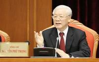 Tổng bí thư Nguyễn Phú Trọng phát biểu khai mạc Hội nghị Trung ương 10