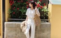 Trời oi bức, bạn sẽ cần đến gợi ý ăn mặc mát mẻ mà vẫn đẹp từ các cô nàng Hàn Quốc sành mặc