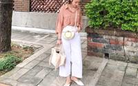 Hè dù nóng hay mát mẻ, áo sơ mi + quần ống rộng vẫn là combo tuyệt diệu nhất cho nàng công sở