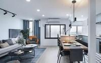 Căn hộ rộng 70m² nhưng rộng thoáng vô cùng sau cải tạo nhờ bài trí sắc màu đen, trắng ăn ý