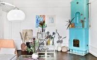 Căn hộ 52m² méo mó xiên xọ vẫn đẹp lạ lùng khi được décor với bảng màu xanh