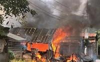 Sau tiếng nổ lớn, căn nhà bốc cháy, người phụ phụ nữ bị phỏng nặng