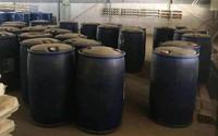 Thuê kho để đá, chủ Trung Quốc chứa gần 300 thùng phi hóa chất chế ma túy
