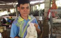 Vớt lục bình trên sông nuôi thỏ,bỏ túi 60 triệu đồng/tháng
