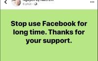 Nam Em tuyên bố ngừng sử dụng Facebook một thời gian dài