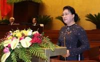 Quốc hội chia sẻ trước những đau thương, mất mát, chia buồn đến chiến sĩ hy sinh, người dân tử nạn tại miền Trung