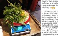 Đi ăn buffet, thực khách bị phạt 200 nghìn đồng vì để thừa... 2,9 lạng rau