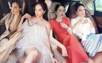 Cứ mỗi lần ngồi xe sang, Hương Giang lại chiêu đãi fan xu hướng thời trang mới