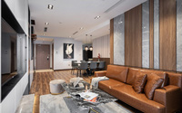 Căn hộ 93m² đẹp sang trọng với màu sắc tương phản dành cho gia đình trẻ ở Hà Nội