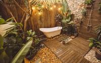 """Khu vực trồng cây """"lột xác"""" thành phòng tắm ngoài trời đẹp mê li giữa lòng Hà Nội"""