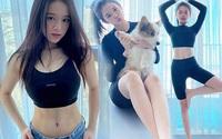Vừa tròn mười tám, Linh Ka không tập gym giống bạn bè mà đam mê yoga như U30