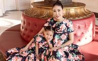 Hà Kiều Anh mặc đồ đôi với con gái