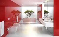 Ngạc nhiên trước những căn phòng tắm màu đỏ, nhìn một lần là nhớ