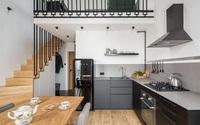 Căn hộ 52m² rộng thênh thang nhờ thiết kế gác lửng và cách lấy sáng hợp lý