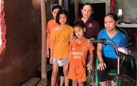 Chồng tai nạn nguy kịch, vợ bệnh tật chăm 4 đứa con nhỏ