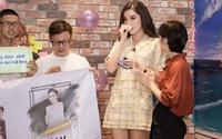 Á hậu Huyền My khóc trên sóng truyền hình