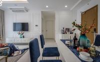 Đã mắt nội thất căn hộ 60 m2 phủ gam màu biển cả
