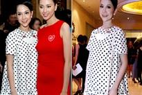 Linh Nga mặc váy rộng che bụng bầu