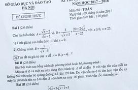 Hà Nội: Đã có hướng dẫn đáp án đề Toán thi vào 10