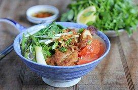 Bún cá rô rau cần
