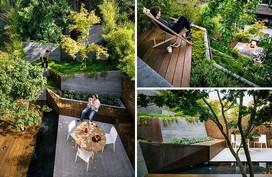 Sân vườn kiểu ruộng bậc thang này khiến ai cũng tròn mắt vì đánh lừa thị giác
