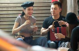 Angela Phương Trinh mặc sành điệu đi ăn đồ vỉa hè