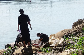 Thi thể thanh niên nổi trên sông Đồng Nai