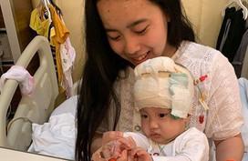 """Bé sinh non bị não úng thủy trải qua 16 lần mổ vẫn chưa """"thoát"""" bệnh viện"""