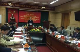 Hội nghị kiểm điểm tự phê bình và phê bình năm 2017 của Ban Cán sự Đảng Bộ Y tế