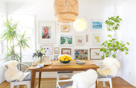 Ngôi nhà thuê phong cách boho không thể chê vào đâu được của nữ blogger