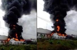 Hải Phòng: Cháy dữ dội, cột khói đen kịt bốc cao trong KCN