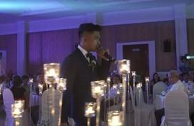 Chú rể 'soái ca' hát tặng ca sĩ MiA trong ngày cưới