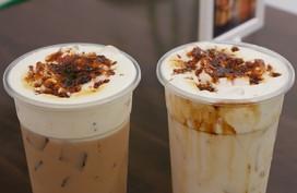 Trào lưu trà sữa, sữa tươi đường đen 'nướng' xuất hiện ở Sài Gòn