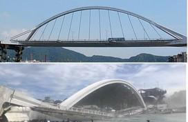 Cầu dây văng 140m ở Đài Loan bất ngờ đổ sập khiến 20 người bị thương, nhiều nạn nhân vẫn mắc kẹt