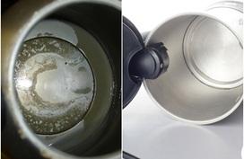 Ấm đun nước lâu ngày bám 1 lớp cặn vàng cứng không sao rửa sạch bằng nước rửa chén, hãy dùng vỏ khoai sọ để đánh bay chúng