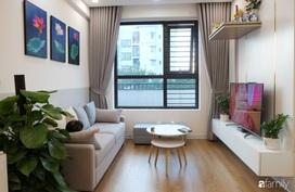 Chỉ vỏn vẹn 66m² nhưng căn hộ nhỏ này ở Long Biên, Hà Nội đã tạo ấn tượng mạnh mẽ với thiết kế nội thất thông minh