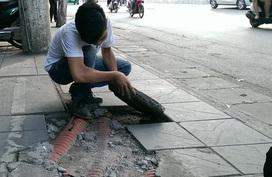 Hà Nội yêu cầu kiểm tra toàn bộ hoạt động lát đá vỉa vè