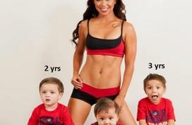 Ngây ngất bà mẹ 3 con có thân hình tuyệt mỹ