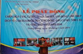 Cao Bằng: Lễ phát động chiến dịch CSSK/KHHGĐ năm 2014