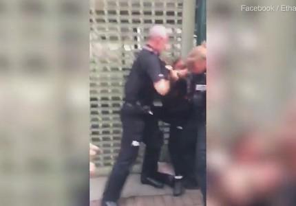 Cảnh sát sôi máu thẳng tay tát bé gái 14 tuổi giữa đám đông