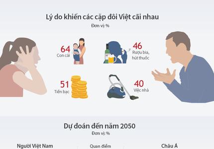 Những lý do hàng đầu khiến vợ chồng Việt bất hòa