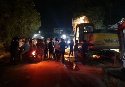 Sập bức tường, 1 người chết, 3 người bị thương ở Yên Bái 