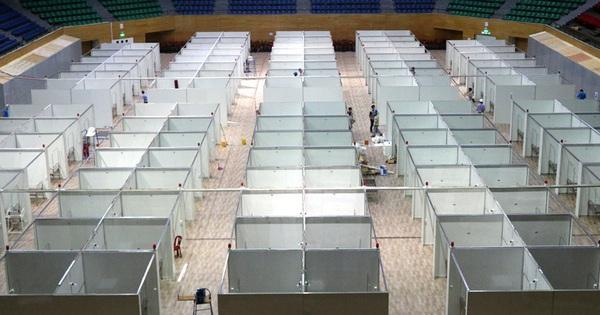Hình ảnh bệnh viện dã chiến tại Đà Nẵng cơ bản hoàn thành sau 72h thi công