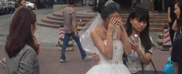 Chú rể bất ngờ bỏ chạy khiến cô dâu khóc ròng