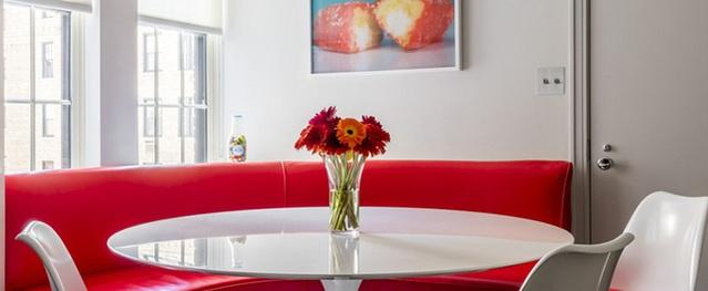 Bàn tròn - lời giải đúng dành cho các thiết kế phòng bếp nhỏ