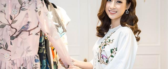 Hoa hậu Đỗ Mỹ Linh đẹp rạng ngời đi thử trang phục