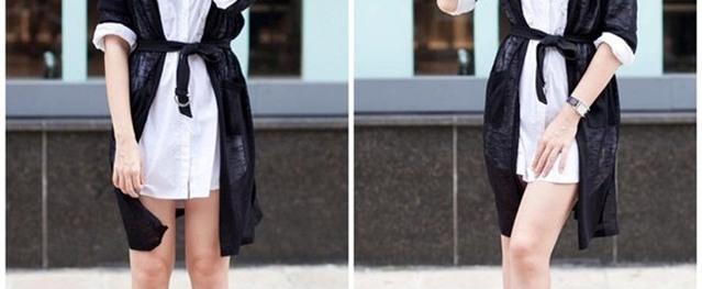 4 cách tận dụng triệt để một chiếc áo sơ mi dáng dài khôn ngoan như sao Việt