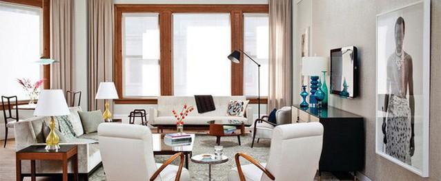 Phòng khách phong cách midcentury không bao giờ lỗi mốt dù mang hơi hướng của nội thất thập niên giữa thế kỉ 20